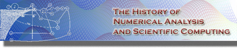 History of Numerical Analysis